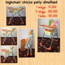 High Chair Chicco Polly 2 in 1 Dinofood