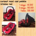 Maxi Cosi Pebble Intense Red