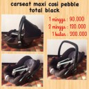 Maxi Cosi Pebble Total Black