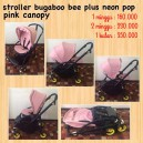 Bugaboo Bee Plus Neon Pop with Pink Canopy