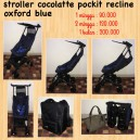 CocoLatte Pockit Recline Oxford Blue with BackPack