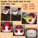 Bumbo 3in1 Multi Seat in Red with Play Tray