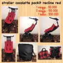 CocoLatte Pockit Recline Red with Back Pack Unit 2