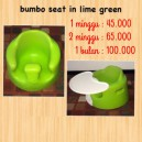Bumbo Seat with Tray in Lime Green