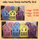 Coby Haus Fence Butterfly 8+2