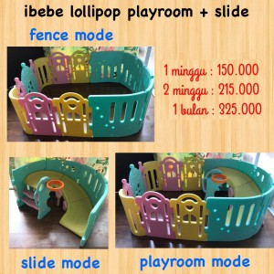 Ibebe Lolipop Playroom + Slide