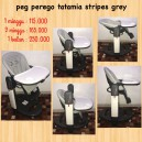 High Chair Peg Perego Tatamia Stripes Grey