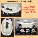 Aquascale 3 in 1 Baby Bath