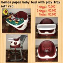 Mamas Papas Baby Bud with Play Tray Soft Red