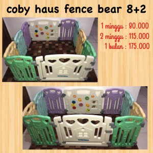 Coby Haus Fence Pastel Bear 8+2