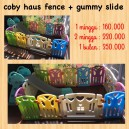 Coby Haus Fence + Gummy Slide