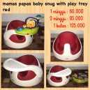Mamas Papas Baby Snug with Play Tray Red