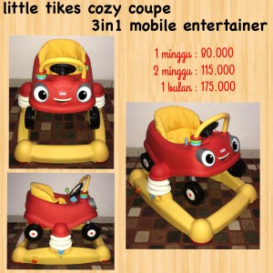 Little Tikes Cozy Coupe 3in1 Mobile Entertainer