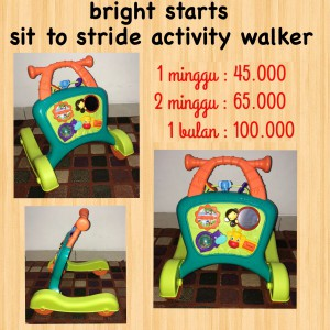 Bright Starts Sit to Stride Activity Walker