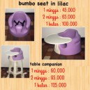 Bumbo Seat with Tray in Purple Lilac