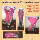 Maclaren Mark II Carmine Rose