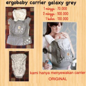Ergobaby Original Galaxy Grey Bundle of Joy with Infant Insert